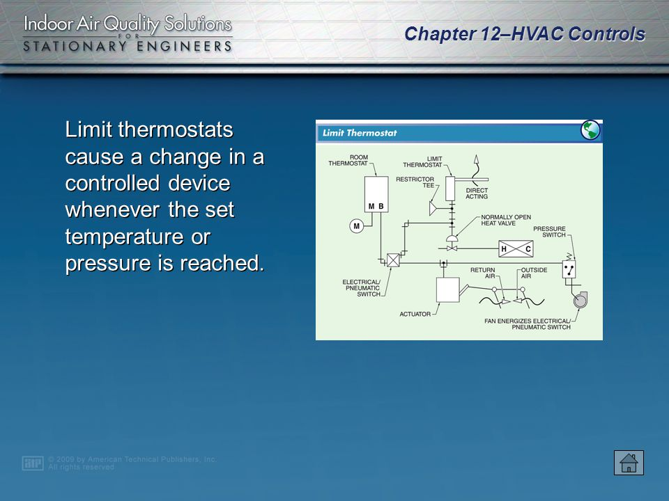 Chapter 12–HVAC Controls A bimetallic element is a sensing device that consists of two metals with different expansion and contraction rates that resp