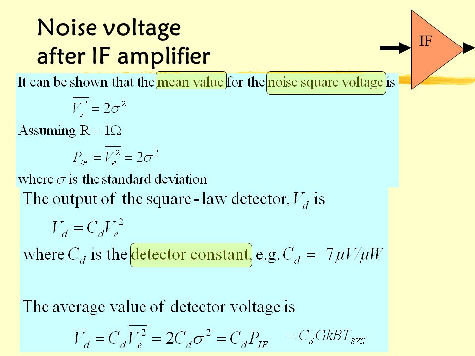 6/6/2014 Noise voltage after IF amplifier IF