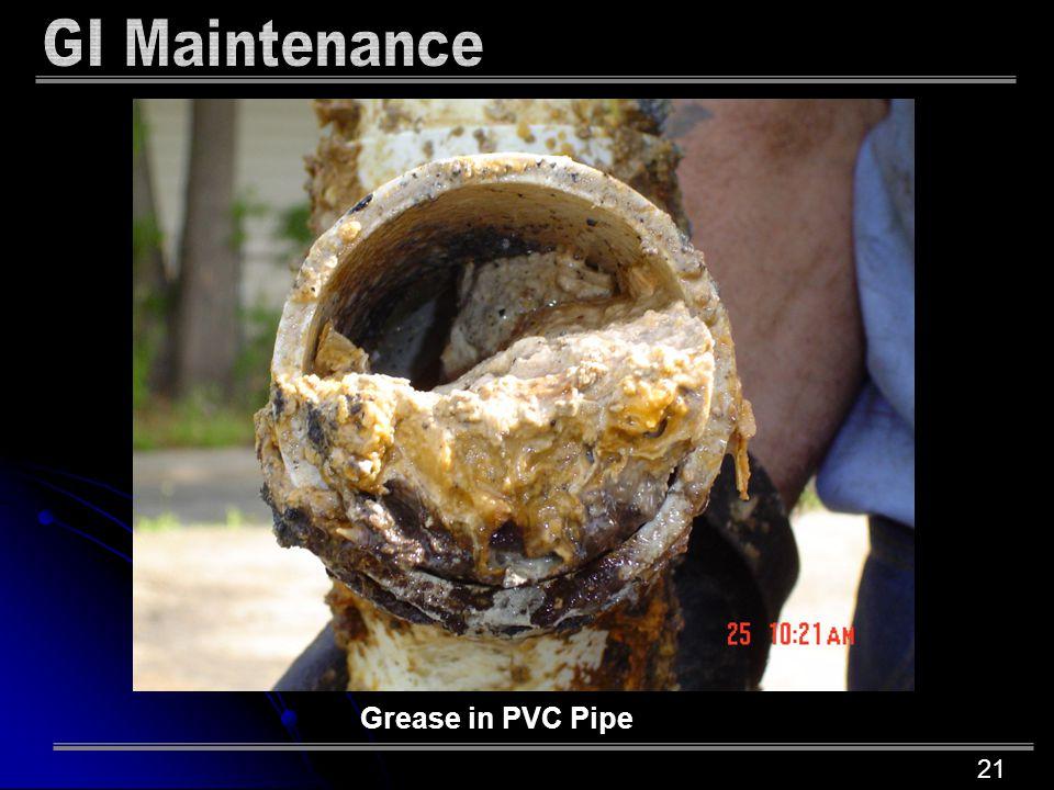 21 Grease in PVC Pipe