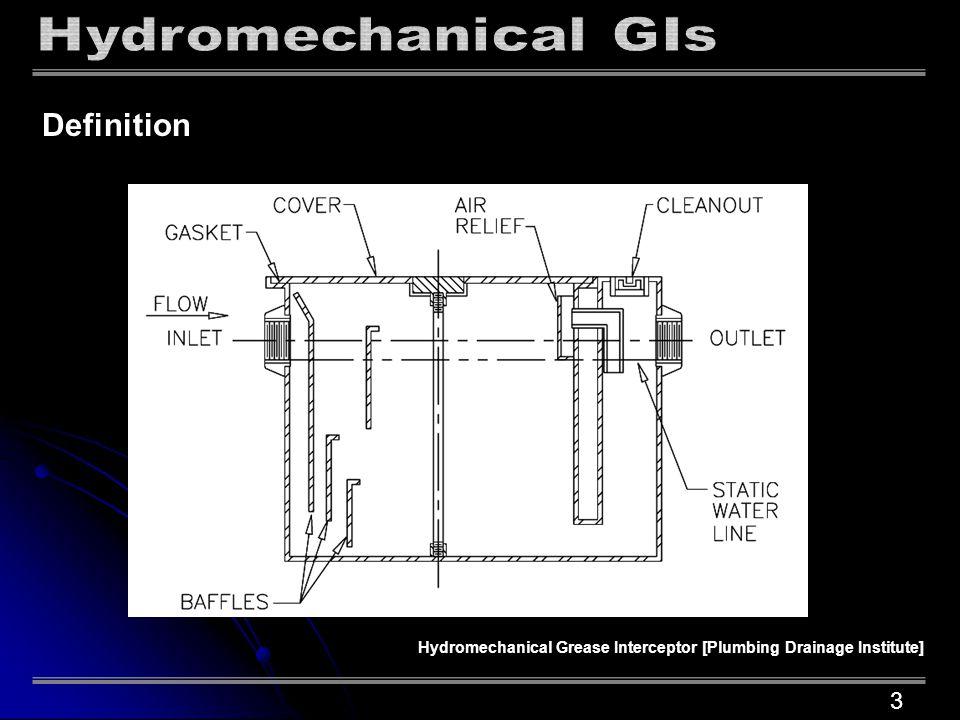 Definition Hydromechanical Grease Interceptor [Plumbing Drainage Institute] 3