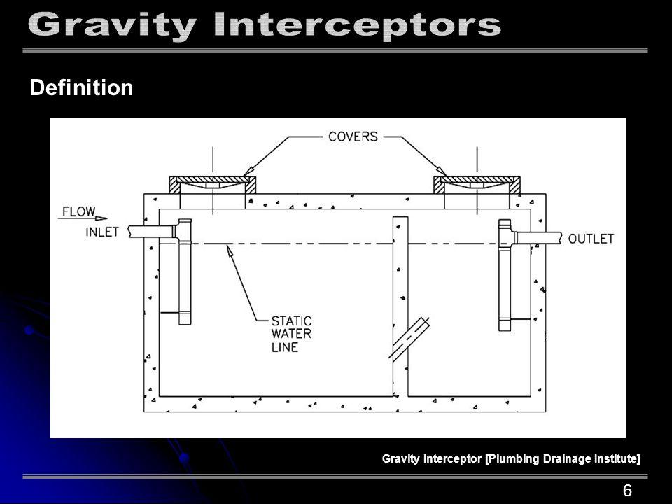 UPC, Chapter 10, Appendix H Limitations Drainage Fixture Units [DFU] Misconception Maximum Flow Sizing Grease Interceptor Sizing Truths 7