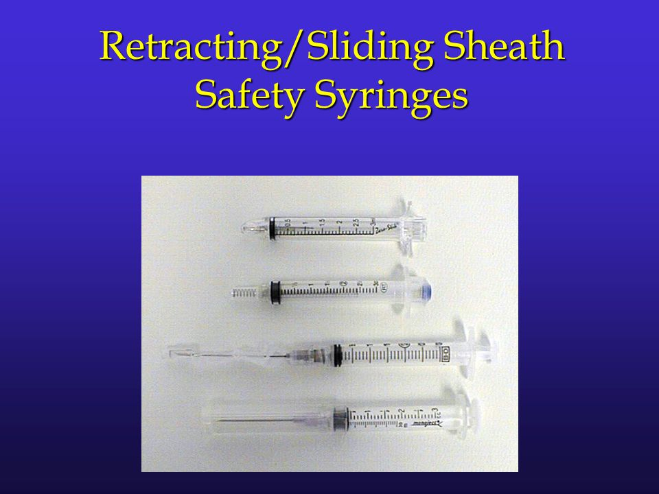 Retracting/Sliding Sheath Safety Syringes
