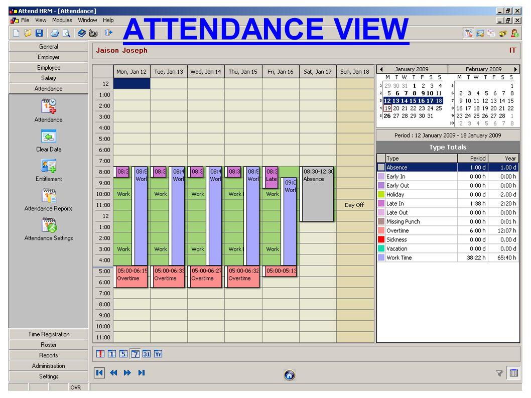 ATTENDANCE VIEW