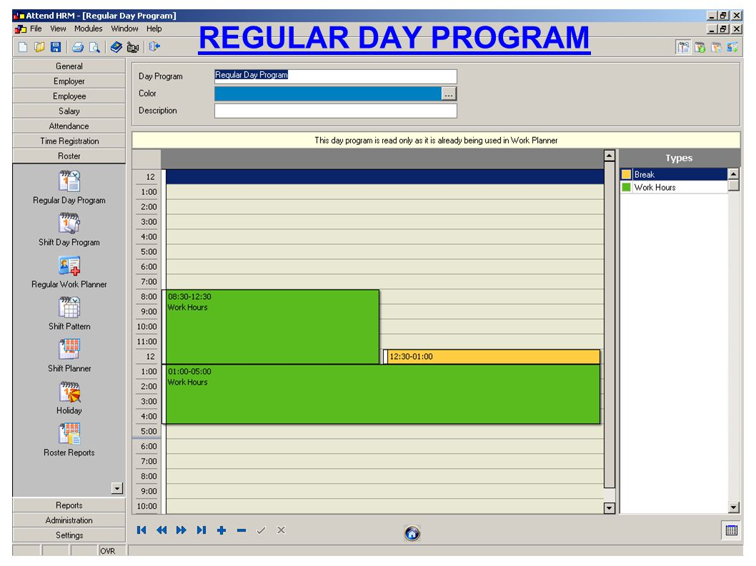 REGULAR DAY PROGRAM