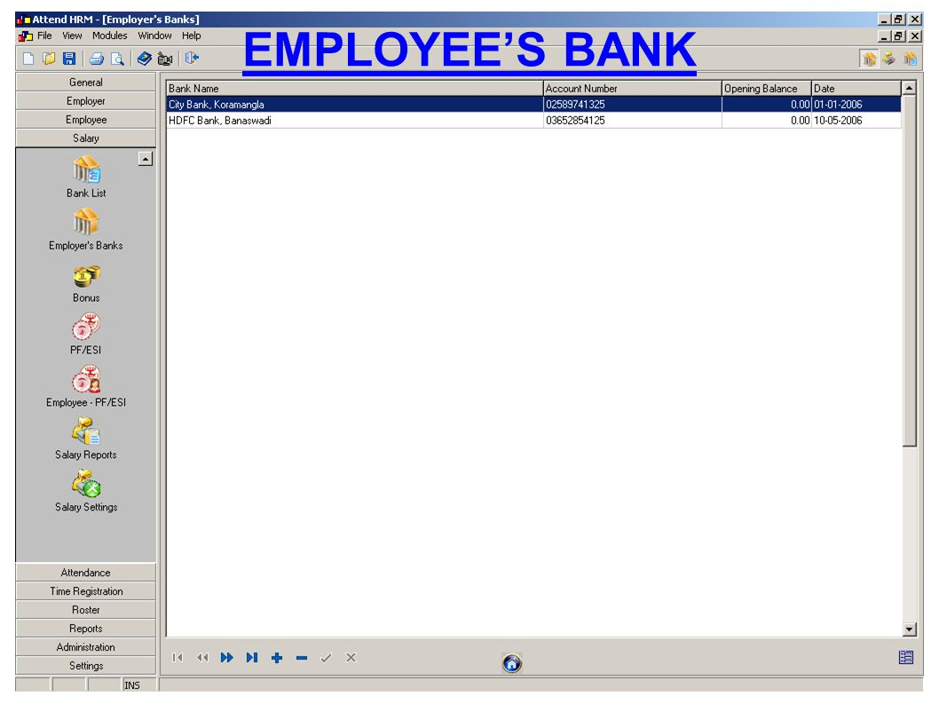 EMPLOYEES BANK