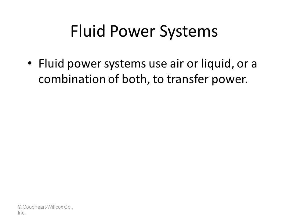 Fluid Check Valve (Pressure Control) © Goodheart-Willcox Co., Inc. LS 6-13