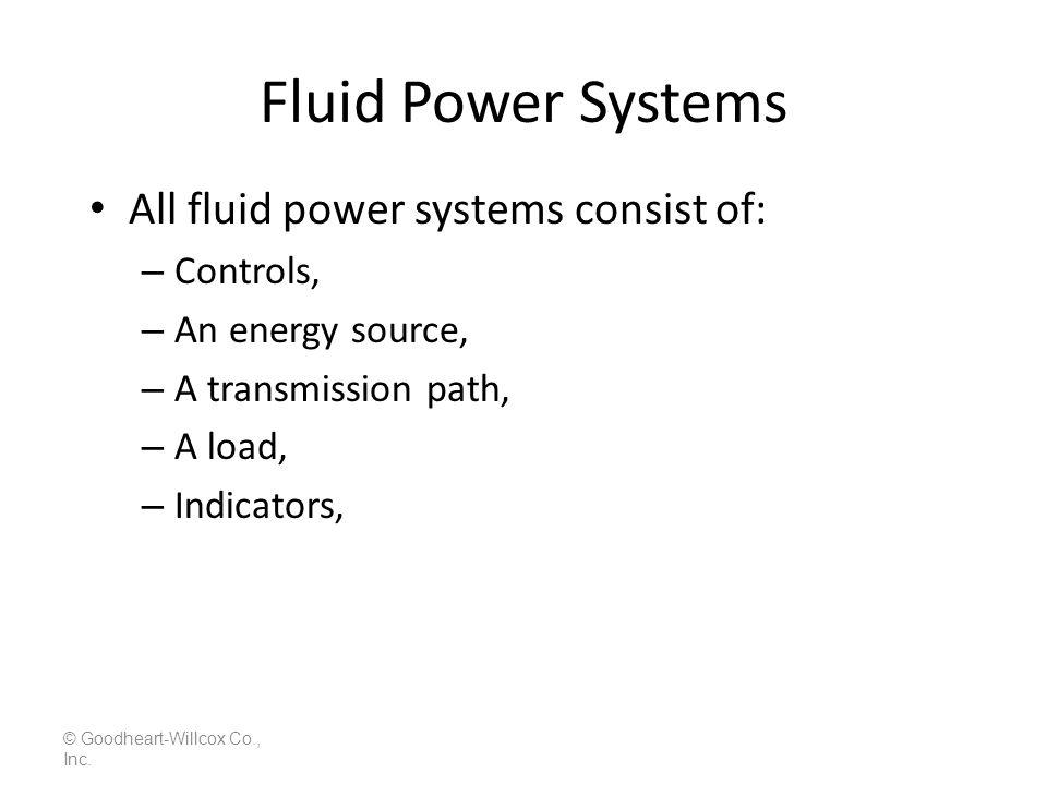 Pressure Drops in a Fluid System © Goodheart-Willcox Co., Inc. LS 6-4