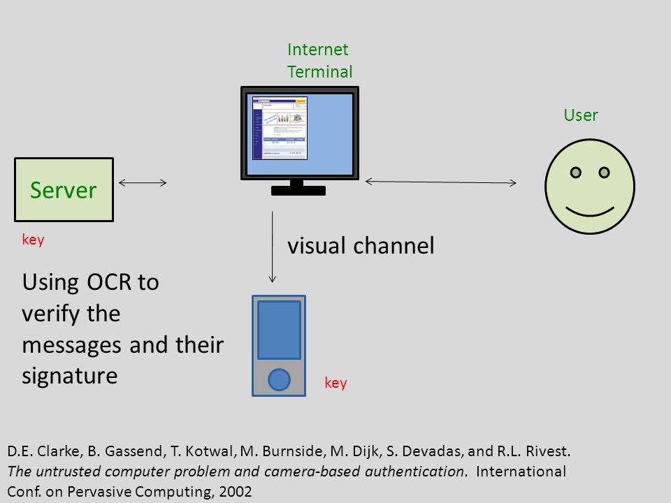 Oct 1, 2010 Server Internet Terminal User Image from [Sharp2006] Sharp et al, Secure Mobile Computing Via Public Terminal.