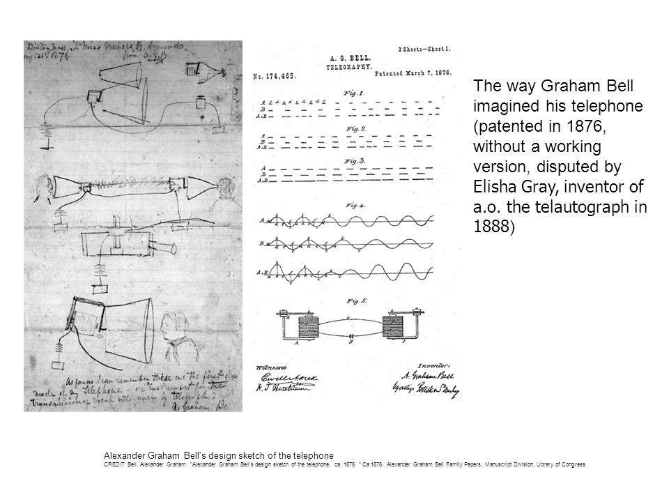 Alexander Graham Bell s design sketch of the telephone CREDIT: Bell, Alexander Graham.