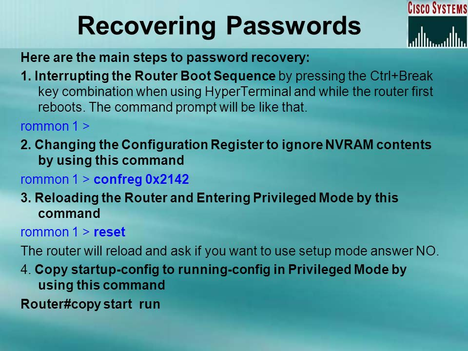 Recovering Passwords 5.