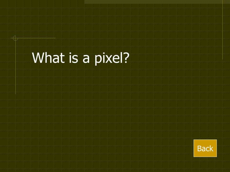 What is a pixel Back