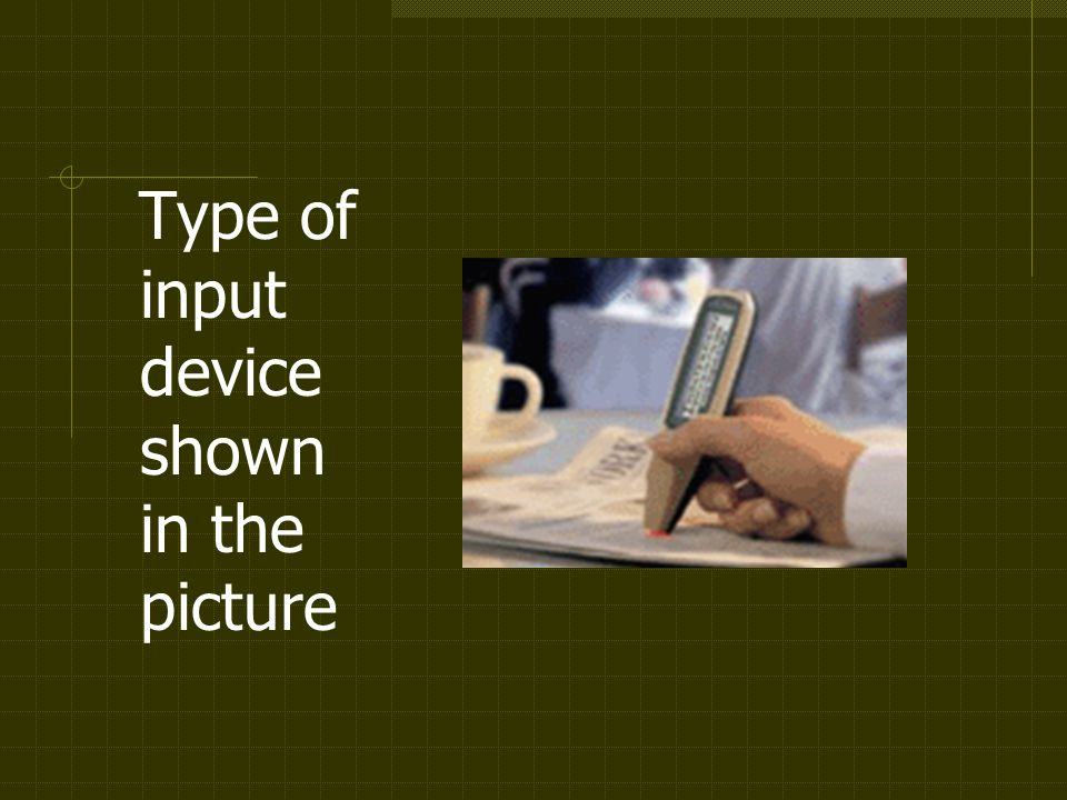 Type of input device shown in the picture