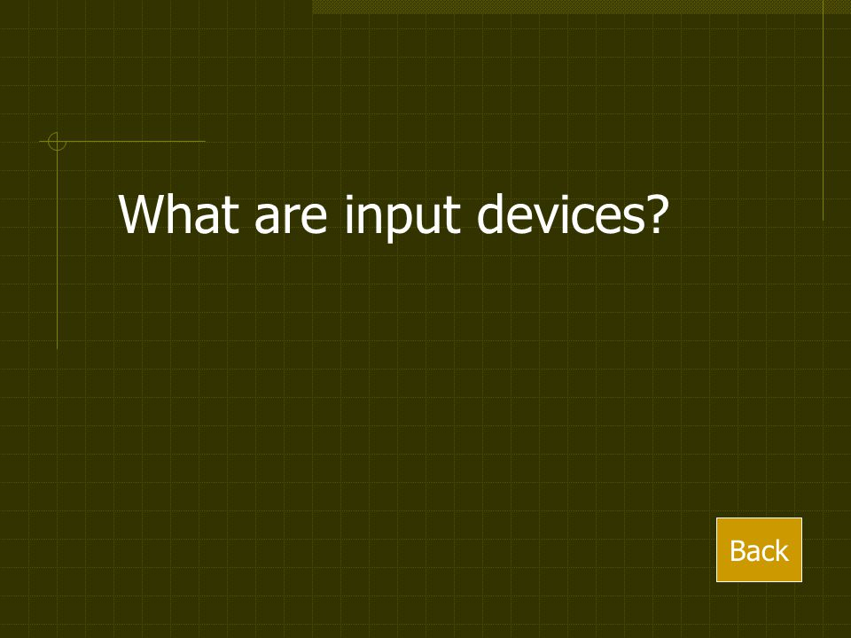 What are input devices Back