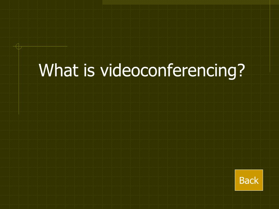 What is videoconferencing Back