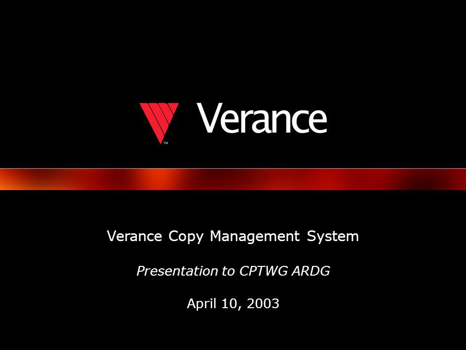 © 2003 Verance Corporation.