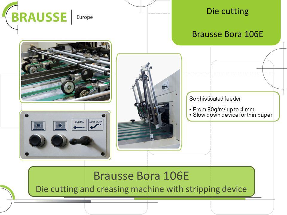 Brausse Europe Siloweg 612 5222 BM s-Hertogenbosch Netherlands Die cutting Hot foil stamping Folder gluers Handfed platens Brausse Europe is offering SOLUTIONS.