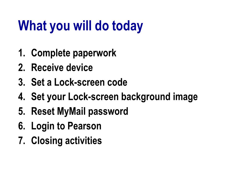Logging into MyMail 1. Open the Mail app