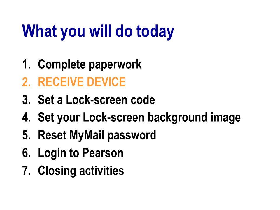 GO: Setting 4-digit passcode 1.GENERAL 2.PASSCODE 3.