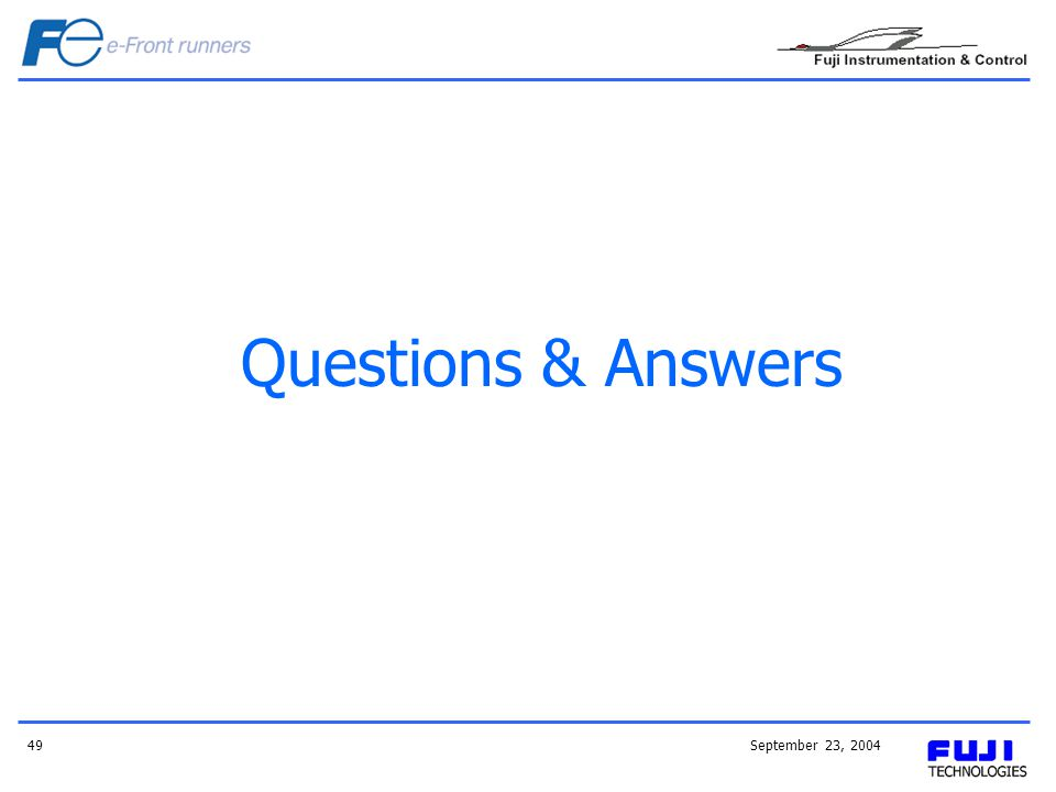 September 23, 200449 Questions & Answers