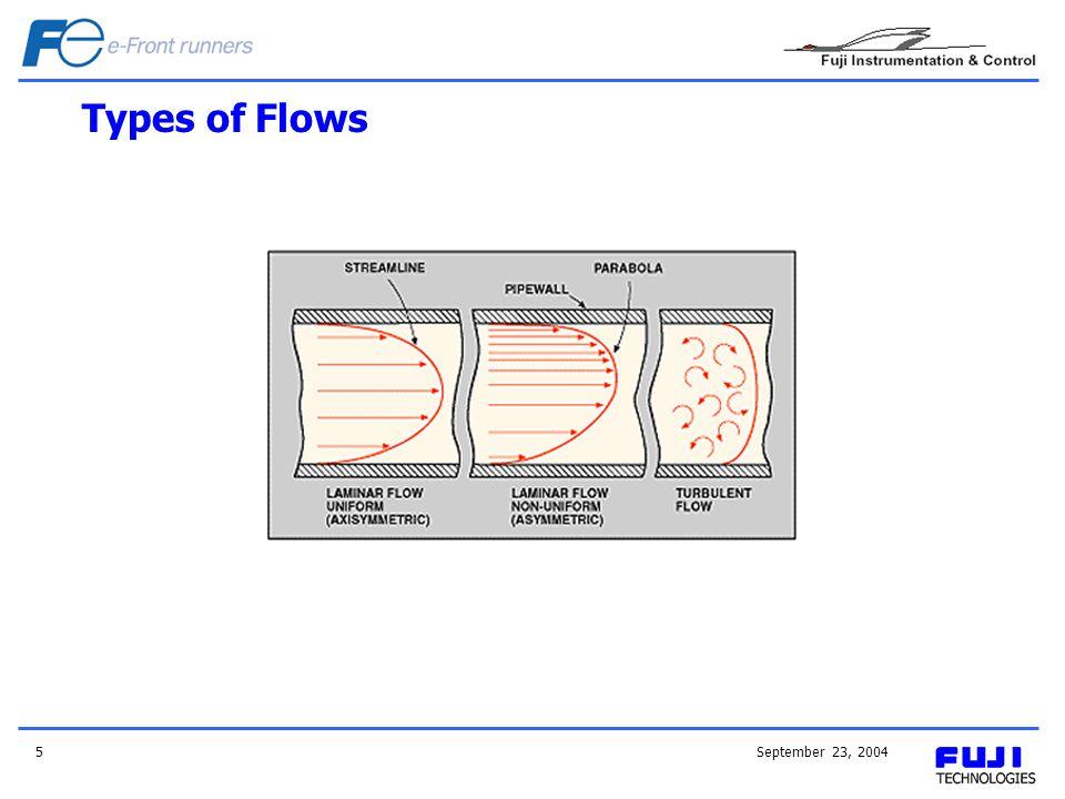 September 23, 20045 Types of Flows