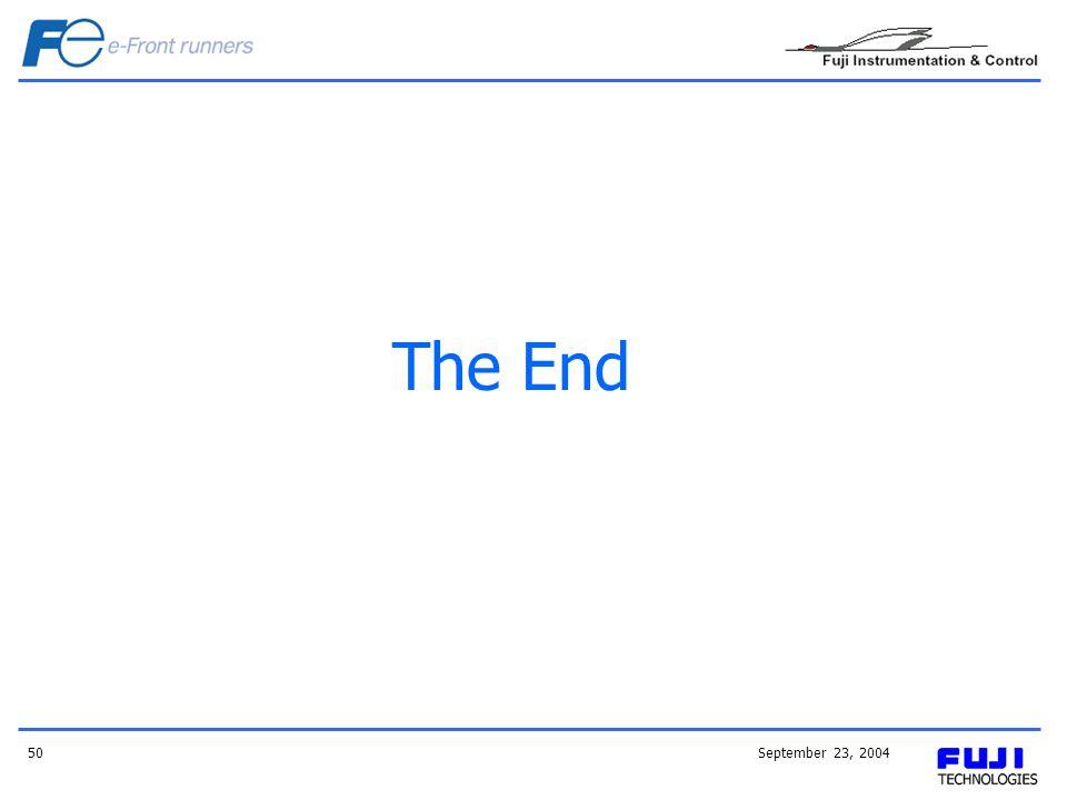 September 23, 200450 The End