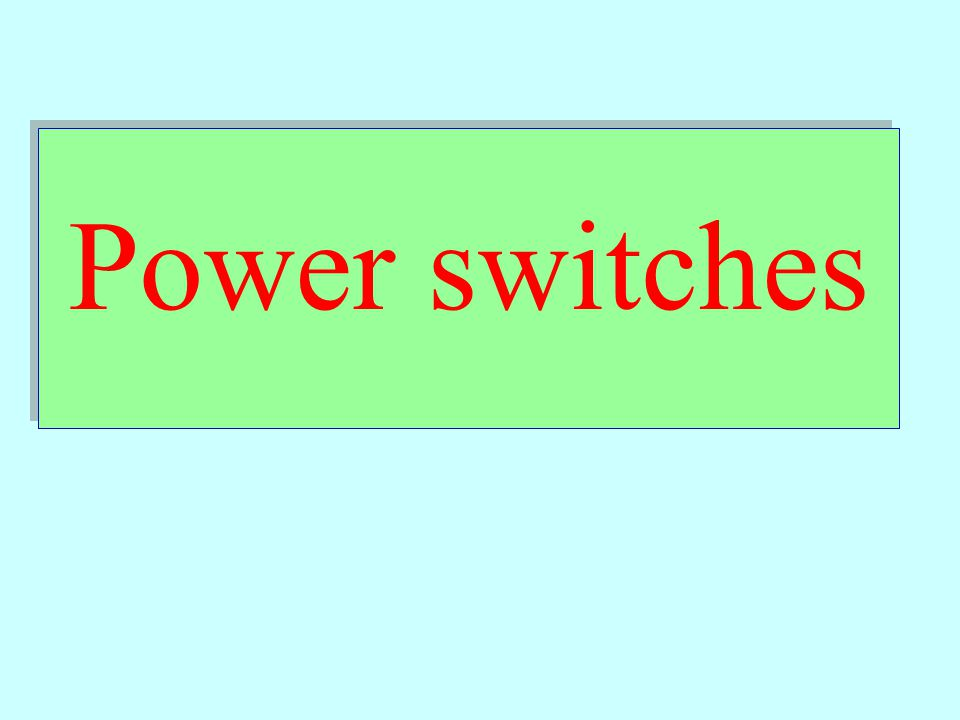 Power Semiconductor Devices Power devices are the key elements of a power converter.