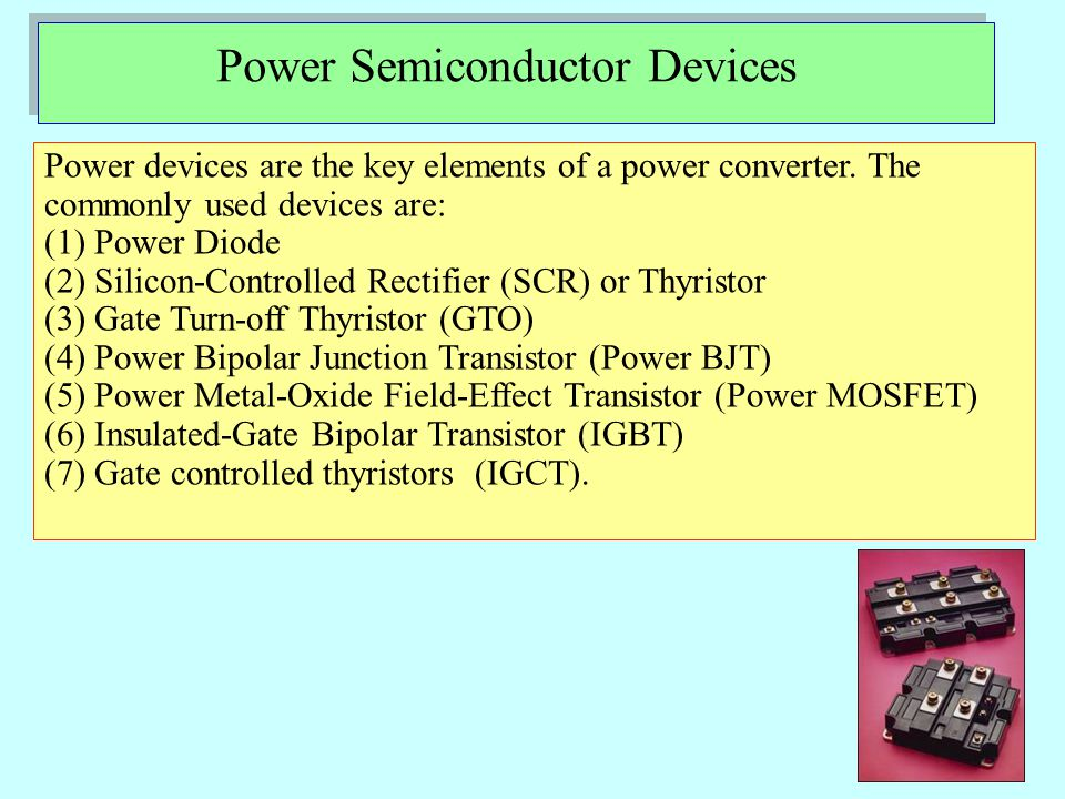 ELECTRICAL ISOLATION FOR DRIVERS Power semiconductor devices can be categorized into 3 types based on their control input requirements: a)Current-driven devices – BJTs, MDs, GTOs b)Voltage-driven devices – MOSFETs, IGBTs, MCTs c)Pulse-driven devices – SCRs, TRIACs