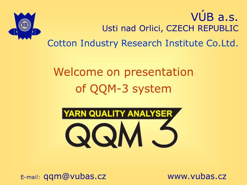 VÚB a.s. Usti nad Orlici, CZECH REPUBLIC Cotton Industry Research Institute Co.Ltd.