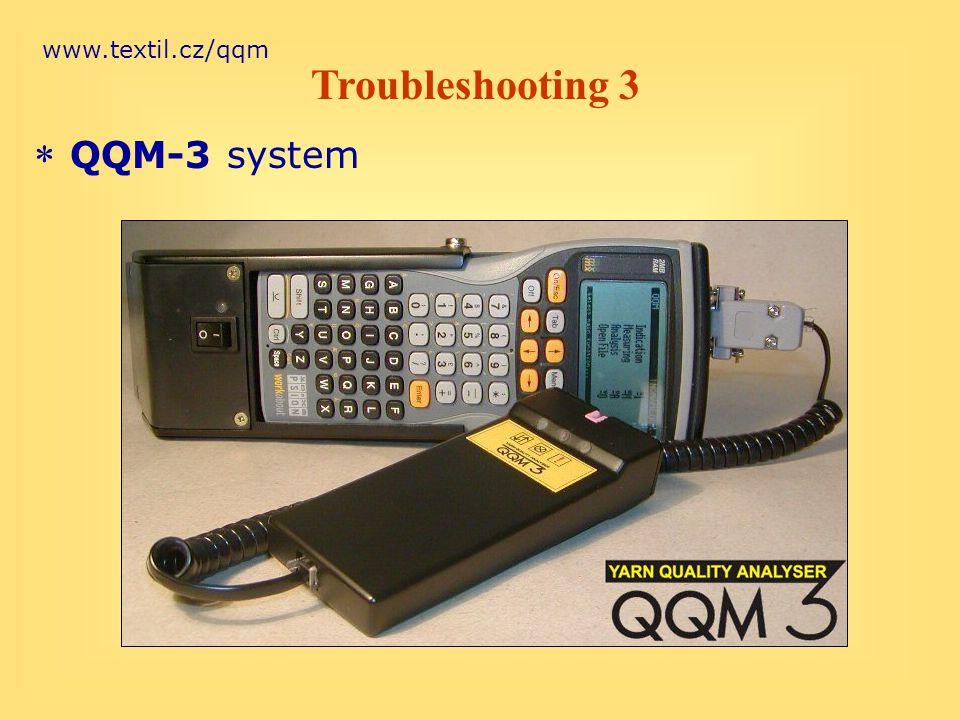www.textil.cz/qqm * QQM-3 system Troubleshooting 3