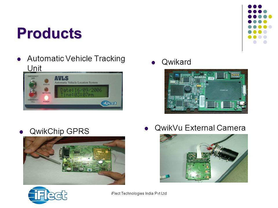 iFlect Technologies India Pvt Ltd Products Automatic Vehicle Tracking Unit QwikVu External Camera Qwikard QwikChip GPRS