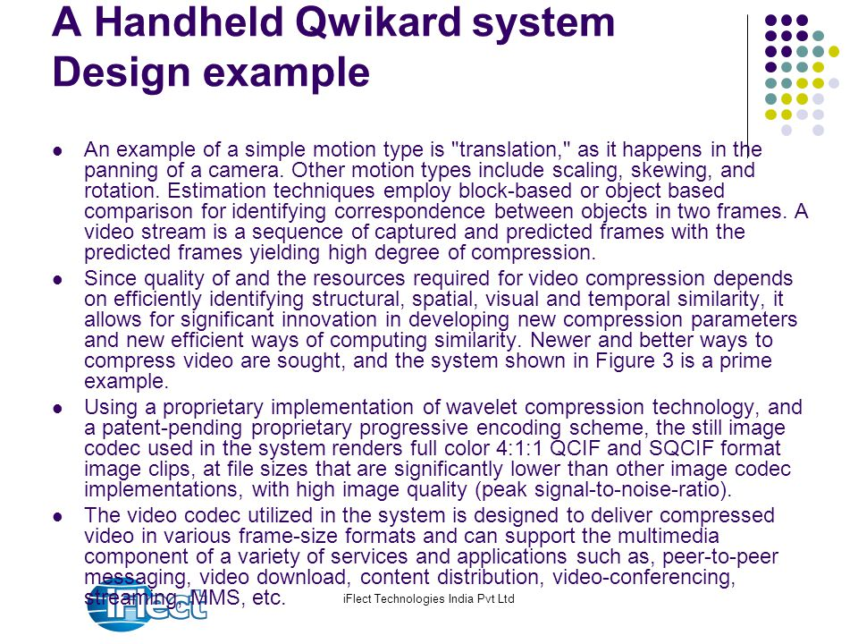 iFlect Technologies India Pvt Ltd A Handheld Qwikard system Design example An example of a simple motion type is