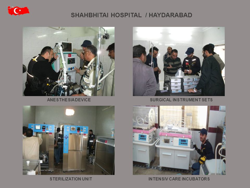 ANESTHESIA DEVICE STERILIZATION UNITINTENSIV CARE INCUBATORS SURGICAL INSTRUMENT SETS SHAHBHITAI HOSPITAL / HAYDARABAD