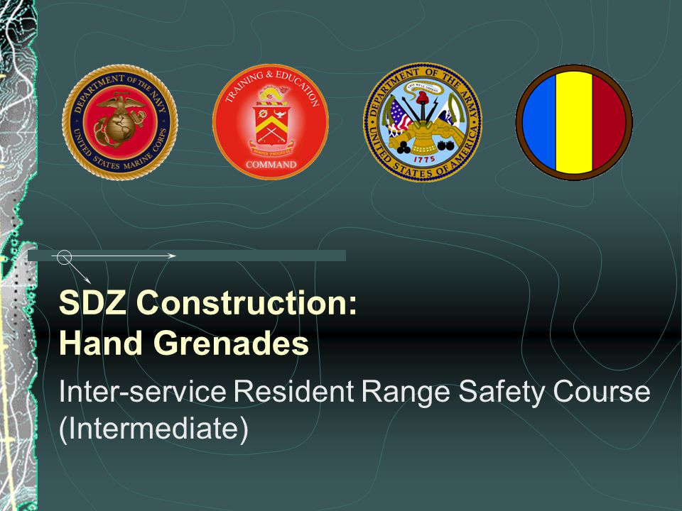 SDZ Construction: Hand Grenades Inter-service Resident Range Safety Course (Intermediate)