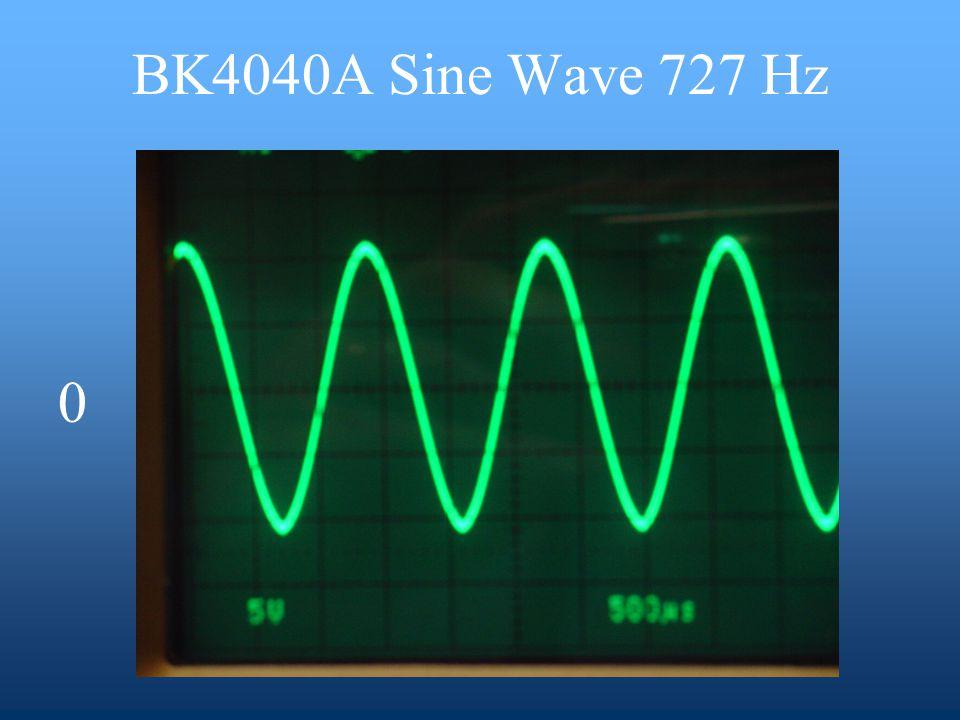 BK4040A Sine Wave 727 Hz 0