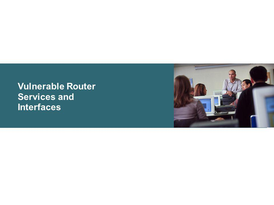 Vulnerable Router Services and Interfaces
