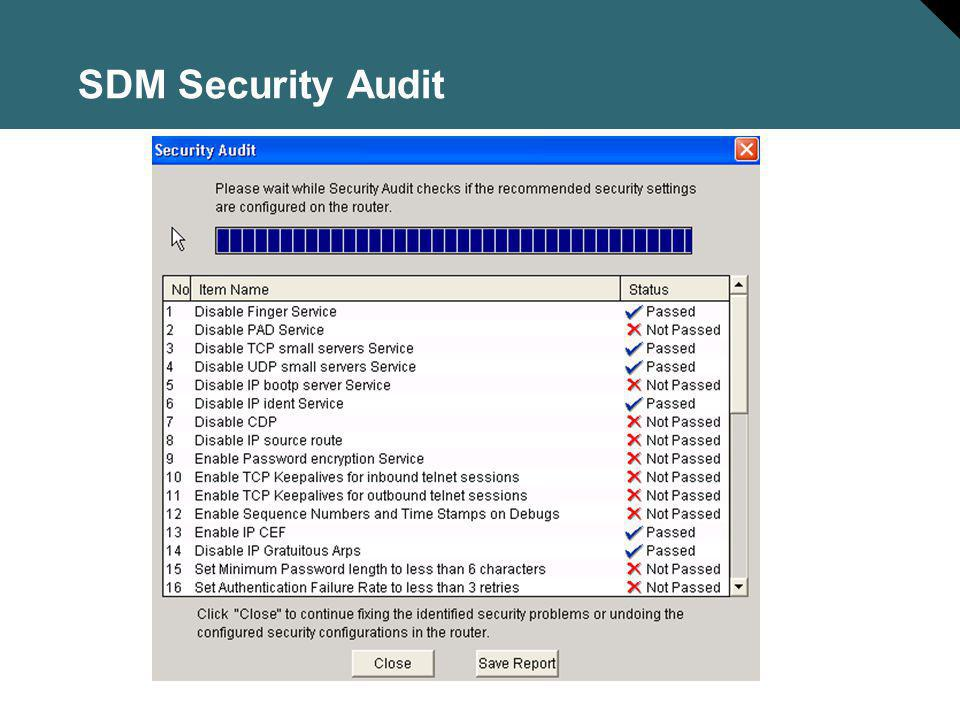 SDM Security Audit