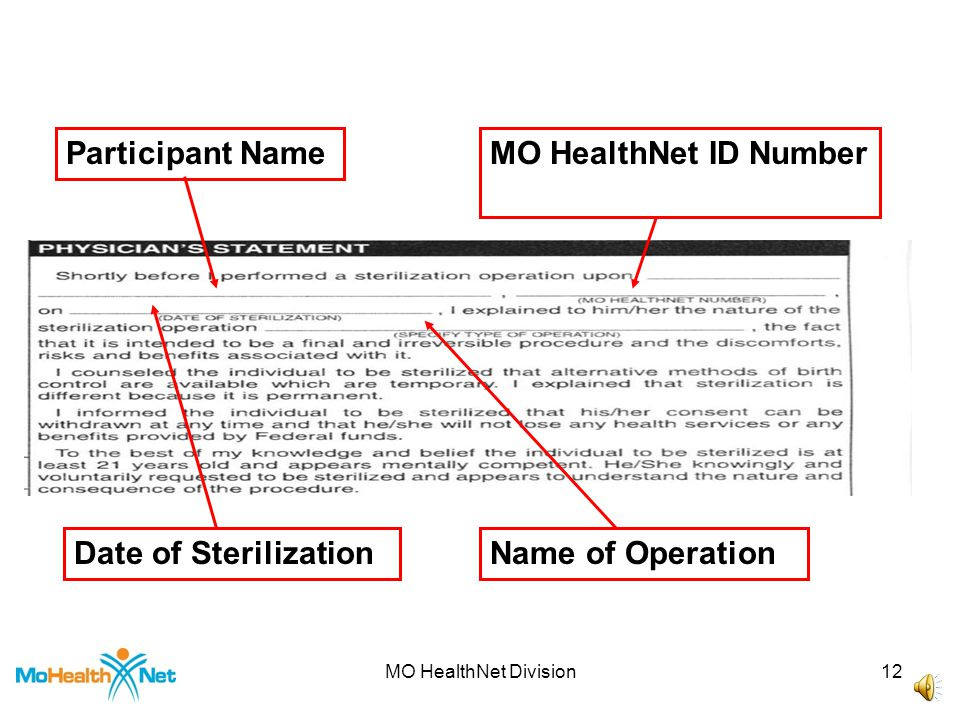 MO HealthNet Division11 Name of Individual Name of Operation Signature of Individual Facility NameFacility Address Date (Month/Day/Year)