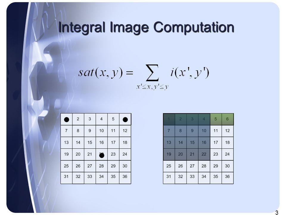 3 Integral Image Computation