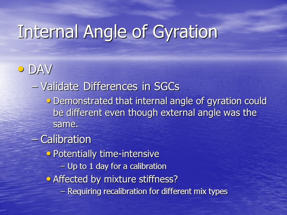 Internal Angle of Gyration DAV DAV –Validate Differences in SGCs Demonstrated that internal angle of gyration could be different even though external