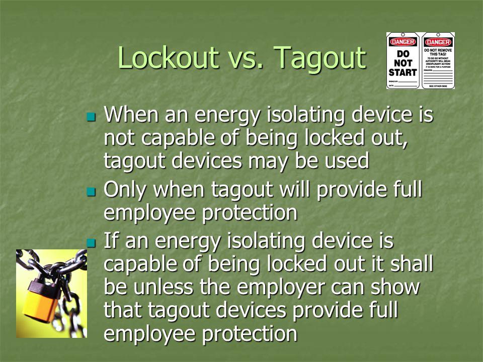 Lockout vs.