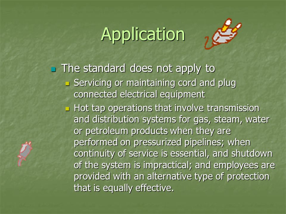 Identity The lockout and/or tagout device shall indicated the identity of the employee applying the device The lockout and/or tagout device shall indicated the identity of the employee applying the device The device shall warn against hazardous conditions if the machine or equipment is energized and shall include a legend such as the following: The device shall warn against hazardous conditions if the machine or equipment is energized and shall include a legend such as the following: Do not start Do not start Do not open Do not open Do not close Do not close Do not energize Do not energize Do not operate Do not operate