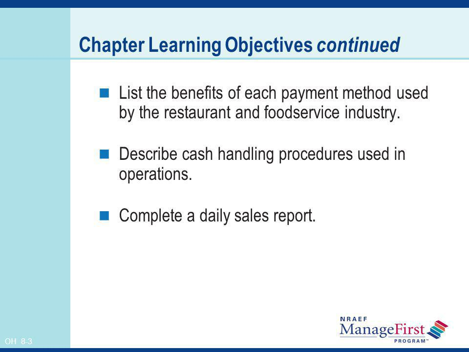 OH 8-14 Preportioning Preportioning items prior to the start of a meal period Ensures consistency Reduces errors in portion sizes Speeds production times