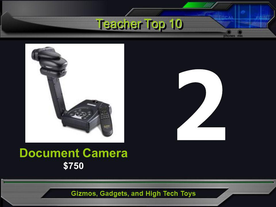 Gizmos, Gadgets, and High Tech Toys Document Camera $750 Teacher Top 10