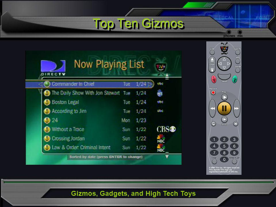 Gizmos, Gadgets, and High Tech Toys Top Ten Gizmos