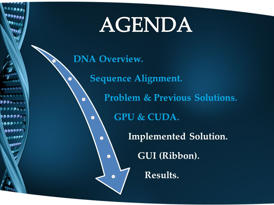 DNA Overview.Sequence Alignment. Problem & Previous Solutions.