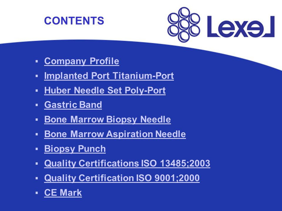 Company Profile Implanted Port Titanium-Port Huber Needle Set Poly-Port Gastric Band Bone Marrow Biopsy Needle Bone Marrow Aspiration Needle Biopsy Pu