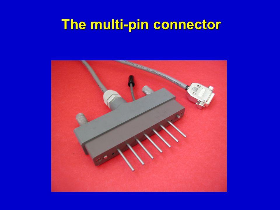 The multi-pin connector The multi-pin connector