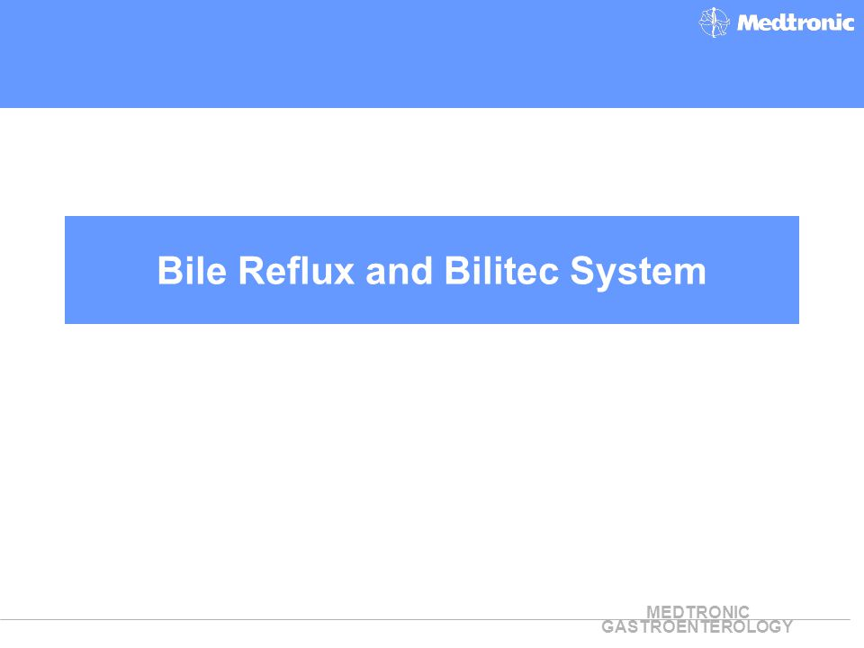 MEDTRONIC GASTROENTEROLOGY Bile Reflux and Bilitec System