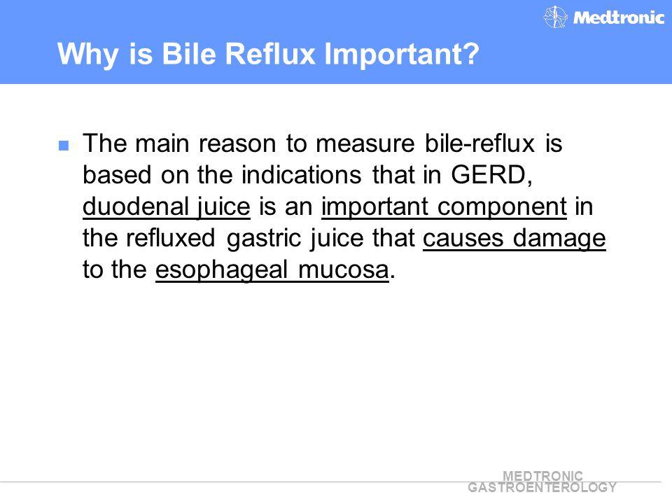 MEDTRONIC GASTROENTEROLOGY Composition of Refluxed Juice in GERD* *From DeMeester et al: Biology of Gastroesophageal Reflux Disease, 1999