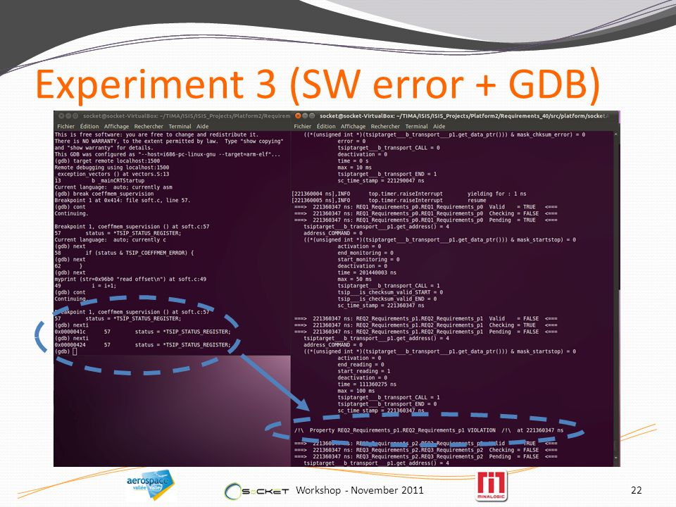 Experiment 3 (SW error + GDB) Workshop - November